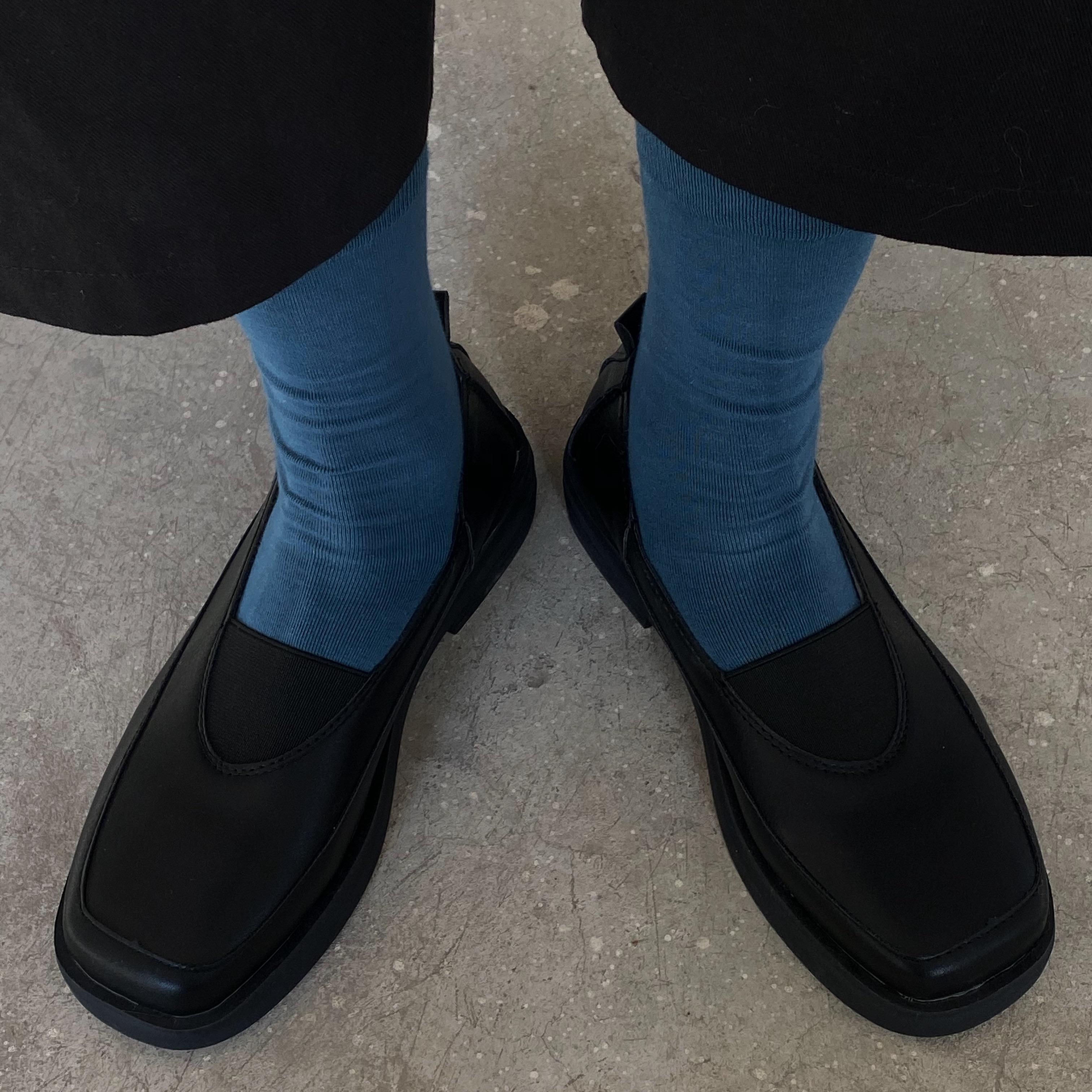 小黄桃韩国ulzzang女鞋潮秋冬复古方口玛丽珍鞋松紧乐福小皮鞋图片