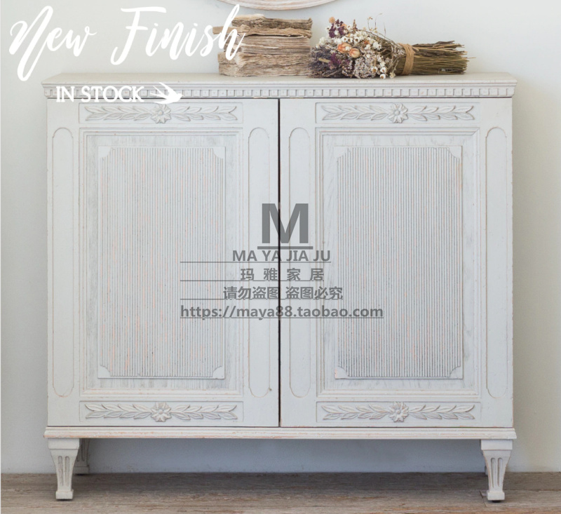 Custom made us style solid wood carving dining cabinet antique making old living room storage cabinet side cabinet Matthias cabinet shoe cabinet