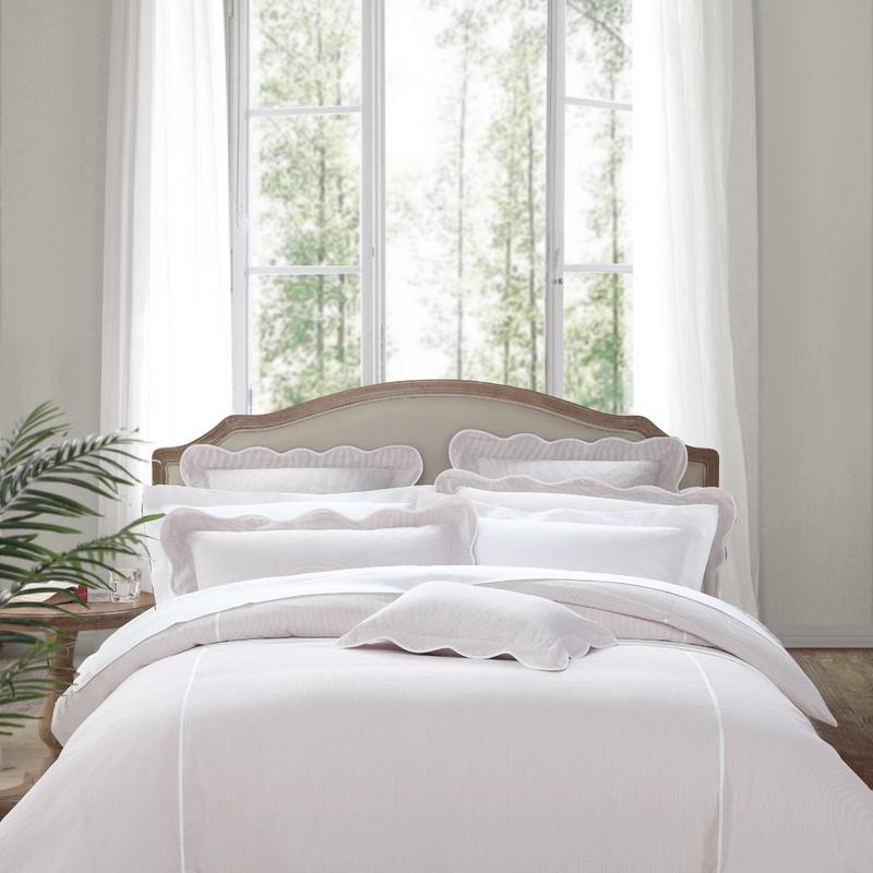 雅棉amain普罗旺斯酒店床上被套全棉4四件套少女可爱粉色超柔学生
