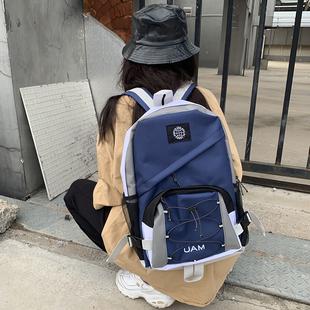 工裝風雙肩包男ins書包女韓版高中學生酷原宿ulzzang揹包時尚潮流