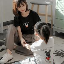 duo米奇老鼠亲子装一家三口夏装短袖T恤2020新款潮母子母女装洋气