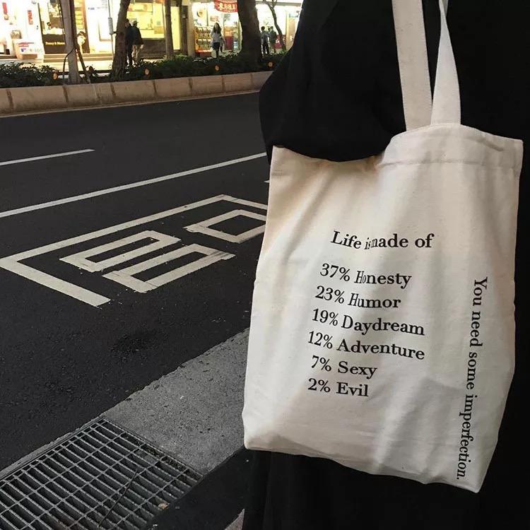 极美2019新款ins单肩帆布包女女包有赠品