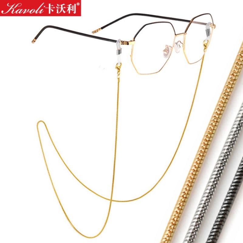 毕婷眼镜链挂绳钛金属时尚挂脖链条眼睛配件防滑带复古洛丽塔链子