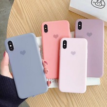 Solid Color Cases For iPhone 7 6 6S 8 Plus Cute Back Cover