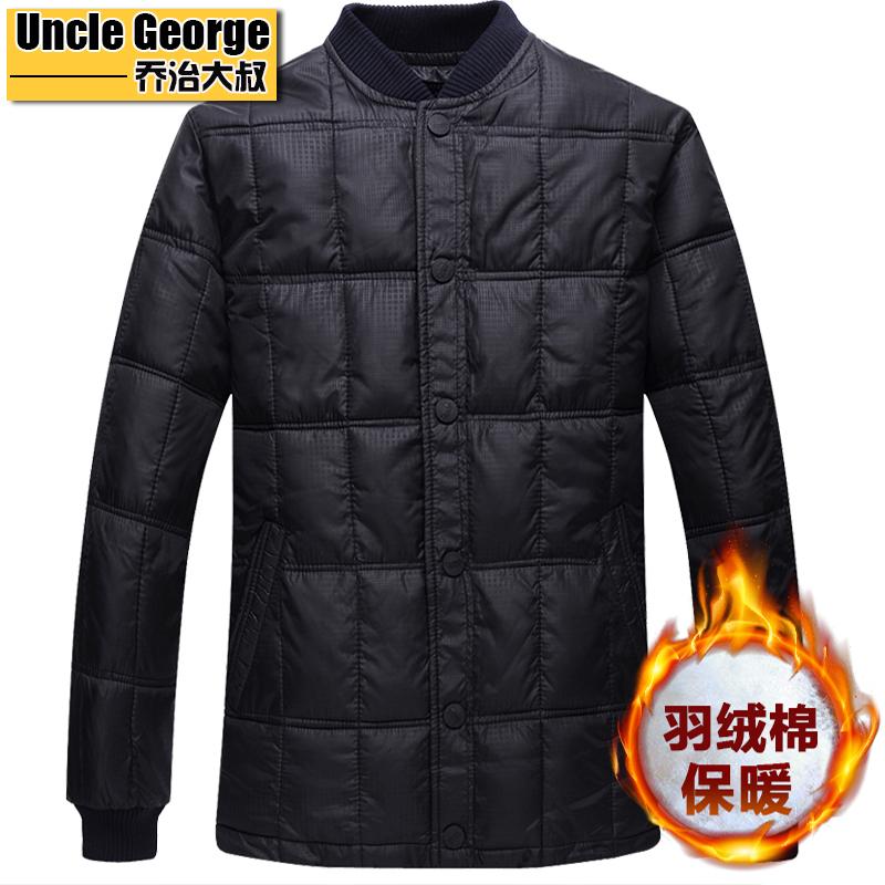 中年男士棉衣中老年人贴身内穿轻薄棉服大码羽绒棉外套棉袄内胆男