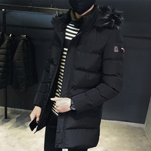 New jacket for men: winter fattening, large-size loose fat men's casual cotton jacket for men with medium and long cotton jacket and thick cotton jacket