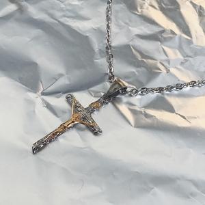 美国街头嘻哈说唱风基督耶稣十字架项链复古哥特风男女短项链饰品