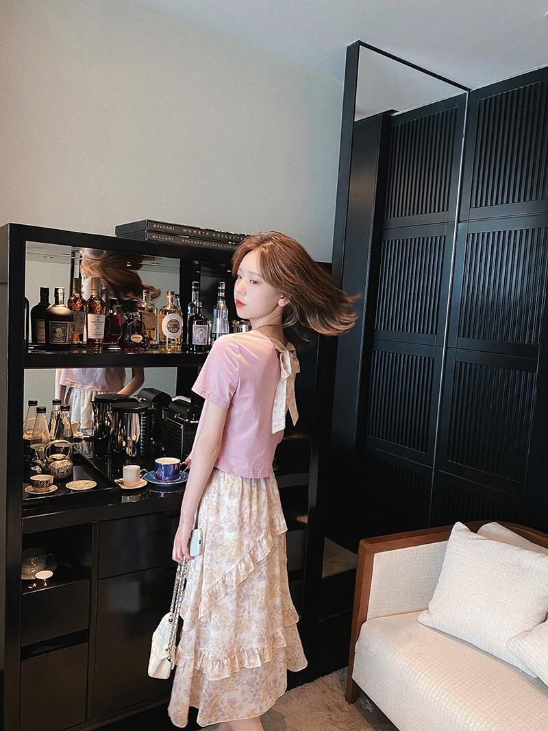 半身裙套装2020年新款女夏装休闲时尚套装裙减龄洋气显瘦两件套潮