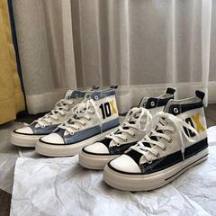 405-3-X163-P45 新品高帮帆布鞋 百搭学生鞋