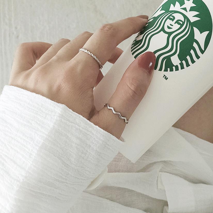 纯银戒指女生潮人小众网红冷淡风ins简约开口日韩指环可调节饰品满37.99元可用5元优惠券