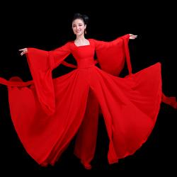 古典舞演出服女中国风飘逸夏季仙气古装汉服仙女大鱼海棠舞蹈服装