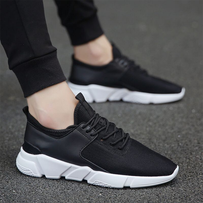 Autumn and winter 2020 new leisure shoes mesh sports fashion lace up shoes fitness running shoes breathable mens shoes