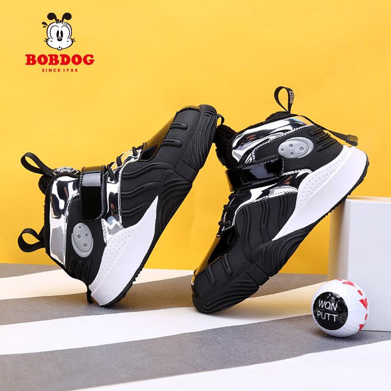 冬季新款儿童运动鞋加绒二棉鞋防滑防水2020巴布豆童鞋男童棉鞋