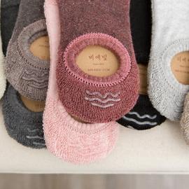 船袜子女纯棉浅口隐形硅胶防滑低帮加绒短袜加厚毛巾袜不掉跟秋冬