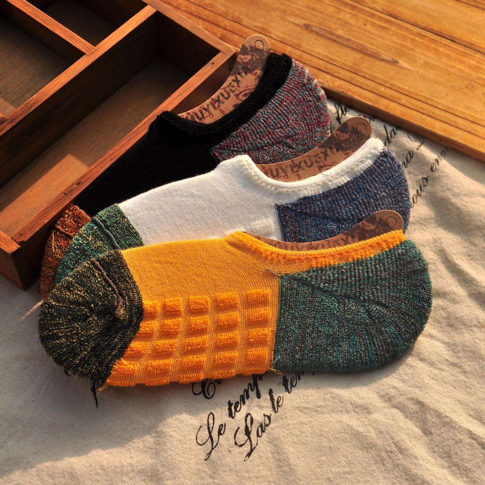 袜子男船袜短袜篮球运动硅胶防滑隐形加厚毛巾袜纯棉低帮潮ins潮图片