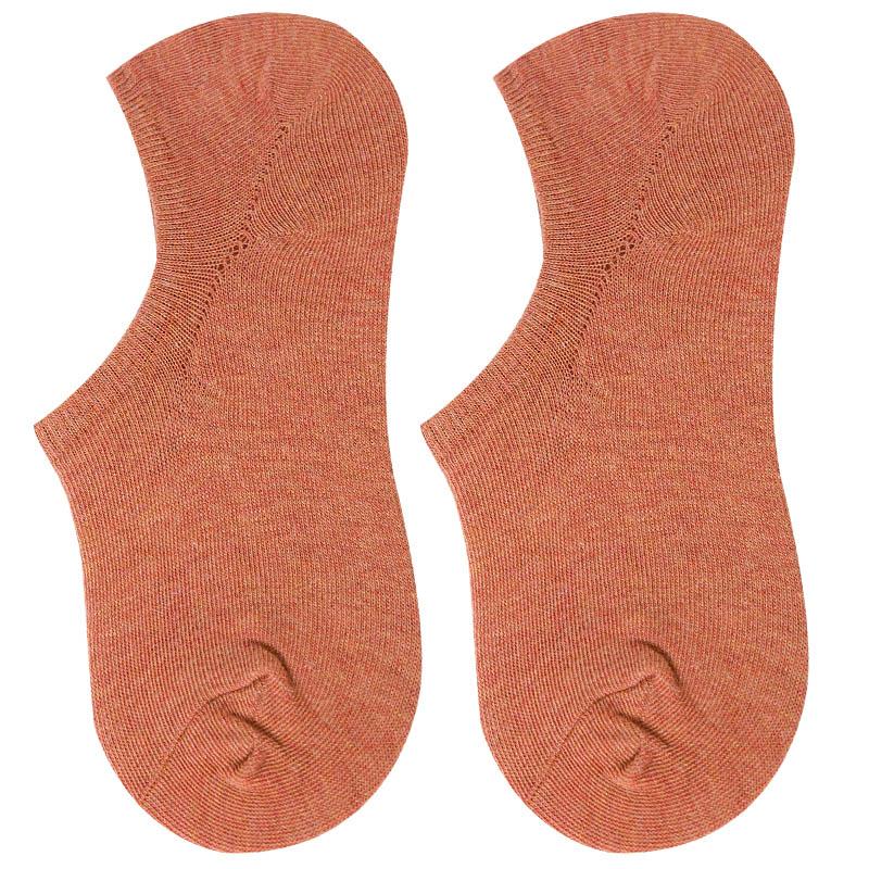 短袜子女船袜低帮浅口隐形纯棉硅胶防滑防脱纯色全棉夏季薄款夏天