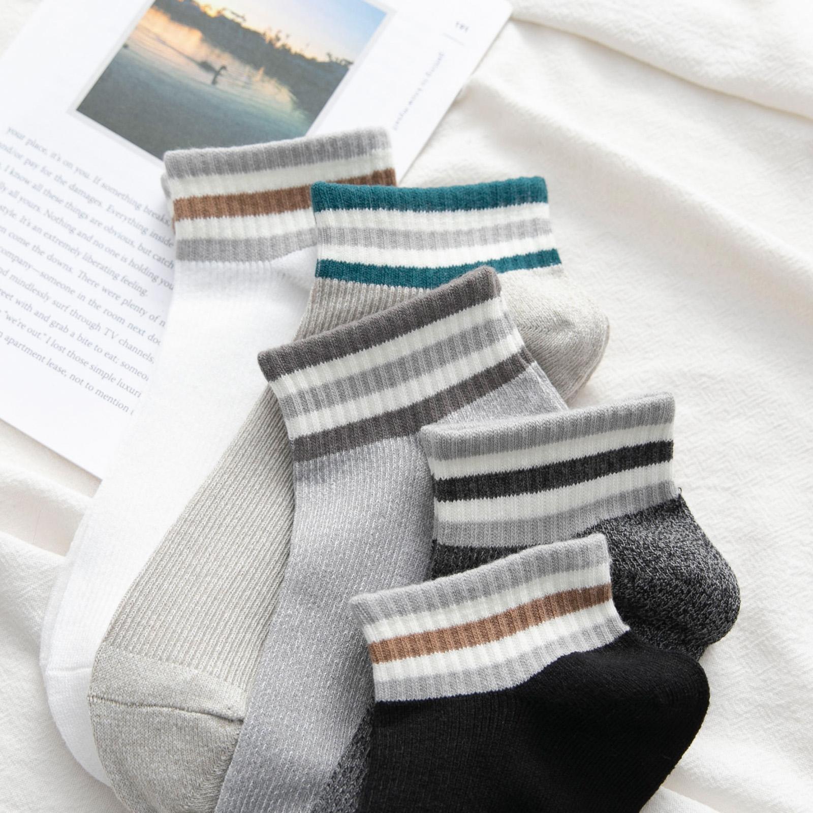 袜子男士ins潮流短袜中筒袜低帮纯棉袜防臭吸汗全棉夏天薄款透气