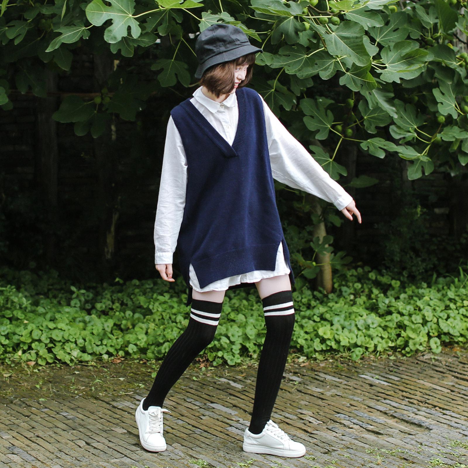 长筒袜子女过膝日系学生秋季高筒袜子韩国韩版学院风运动大腿袜潮