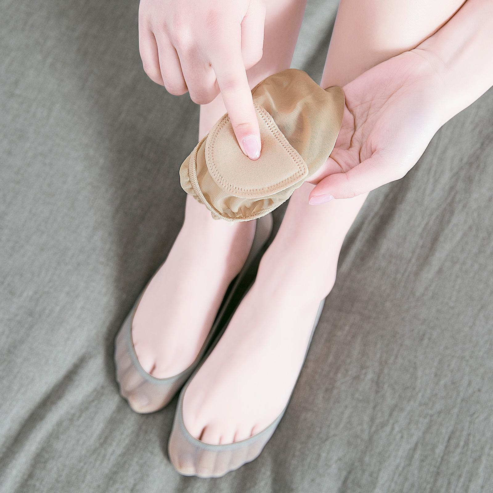 船袜女纯棉袜底冰丝超浅口全隐形袜气垫硅胶防滑薄款网眼防臭夏季