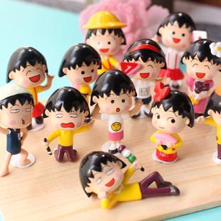 动漫周边樱桃小丸子手办公仔玩具玩偶模型摆件节日礼物汽车摆件图片