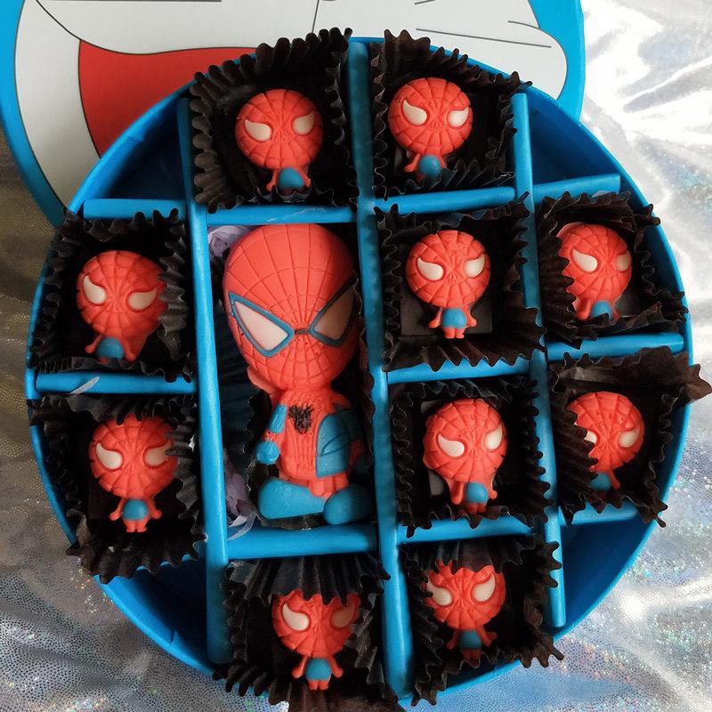生日礼物DIY手工巧克力七夕情人节蜘蛛侠创意蛋糕装饰 零食