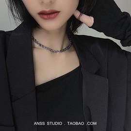 【ANSS】有点酷!双层链条短款项链女 蹦迪女孩戴的小众时髦颈饰