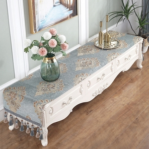 欧式电视柜桌布布艺蕾丝客厅梳妆台茶几垫长方形清新电视机柜桌旗