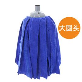 舒朗热销超细纤维拧干拖把头 310克吸水加大圆头替换装单头墩布头