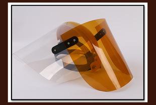 耐高温安全帽式防护面屏 头戴式电焊面罩面具3毫厚防冲机