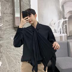 2019秋装个?#25321;?#30385;领结设计男士长袖衬衫 二色KK879/P85