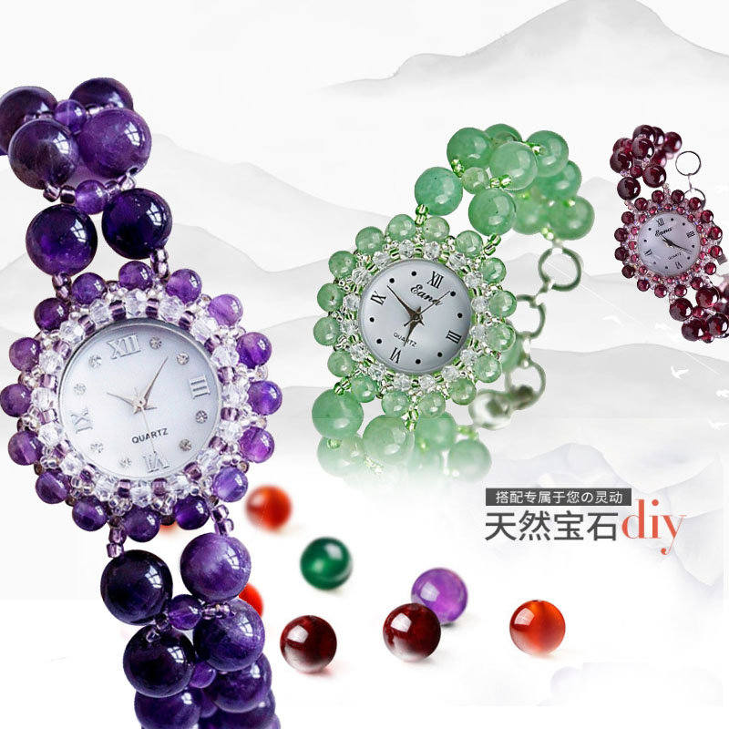 Holiday gift womens boutique wristwatch natural crystal agate bracelet watch jade waterproof Fashion Bracelet Watch