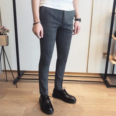 2018英伦春装修身男士休闲裤K124-P85 控价105