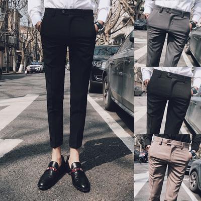 2018男士休闲西裤九分裤 聚酯纤维50%棉47%氨纶3%K125-P75控价98