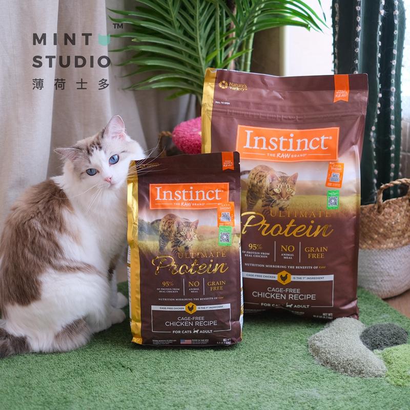 薄荷士多 本能Instinct优质高蛋白无谷鸡肉配方猫粮5磅&10磅