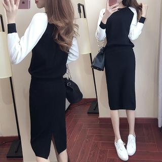 2021秋季韩版大码女装秋装潮时尚气质名媛套装裙时髦春春秋两件套