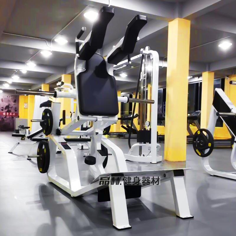 Large gymnasium commercial Huck squat V-type squat hip machine Hummer hip leg special training equipment