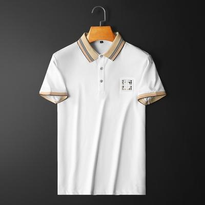 D316-H021-P75  2021夏季新款双丝光棉短袖t恤 白 平铺 控价128