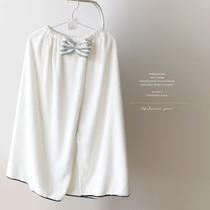 出口日本浴裙 配色hi美腻!柔软汗蒸服可爱抹胸浴袍可穿浴巾女