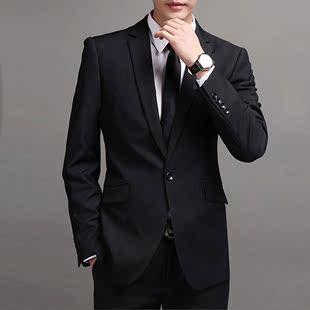 正装西装男套装修身男士休闲气质商务装面试工装西服上身职业衣服