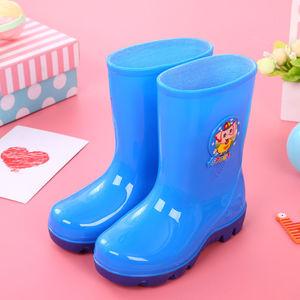2-10岁儿童雨鞋男女水鞋加绒卡通胶靴水靴防滑大中小童胶鞋雪地靴