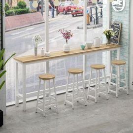 靠墙吧台桌家用客厅高脚桌简约酒吧餐桌奶茶店桌椅组合长条桌窄桌图片