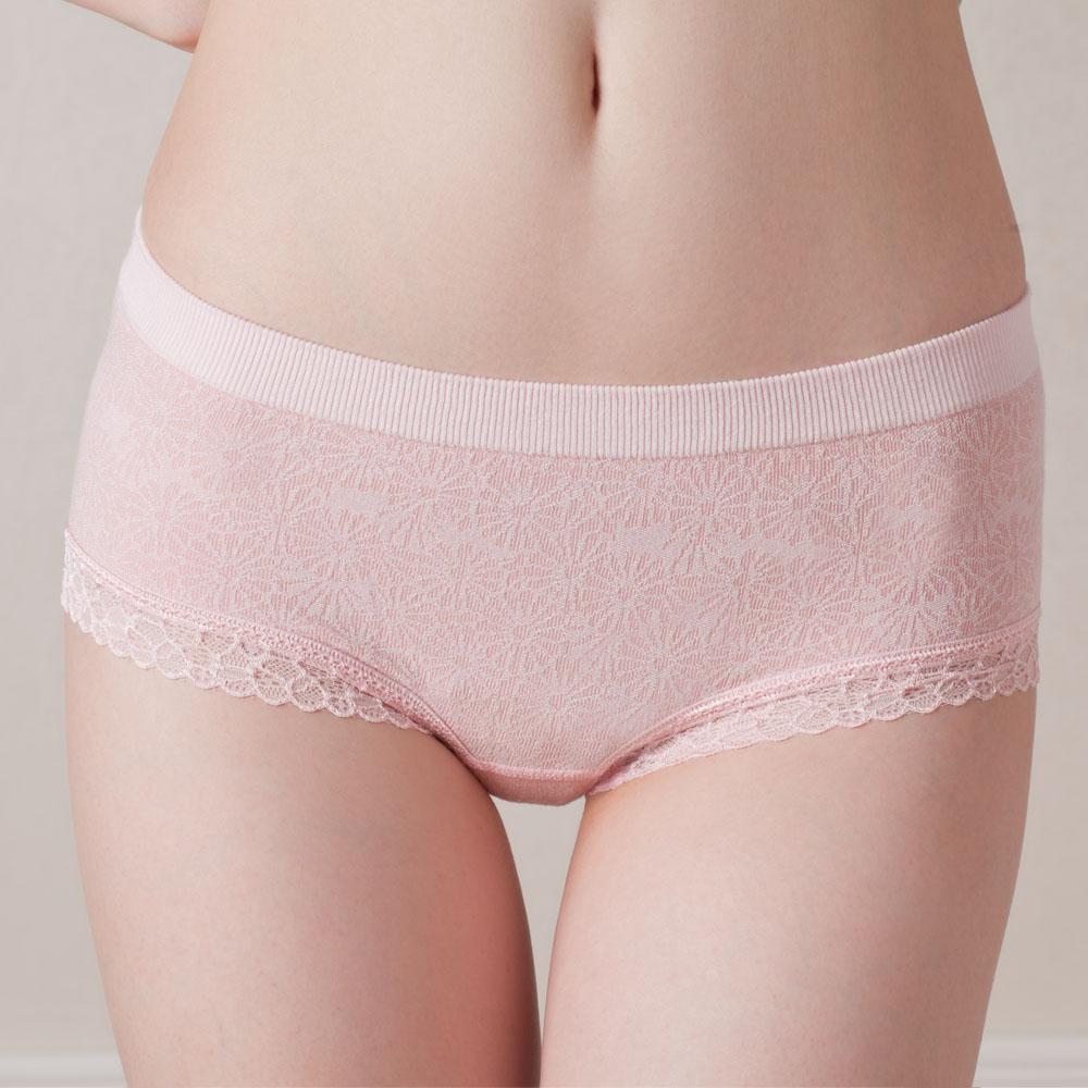 Hups Hepu / Hepu womens soft bamboo fiber lace elastic jacquard seamless underwear 3 Pack