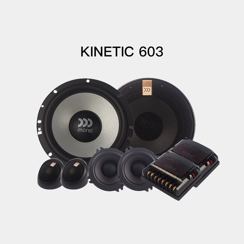 Israel Morel Murray car audio refitted and upgraded Cory kinetic 603 three frequency division package speaker