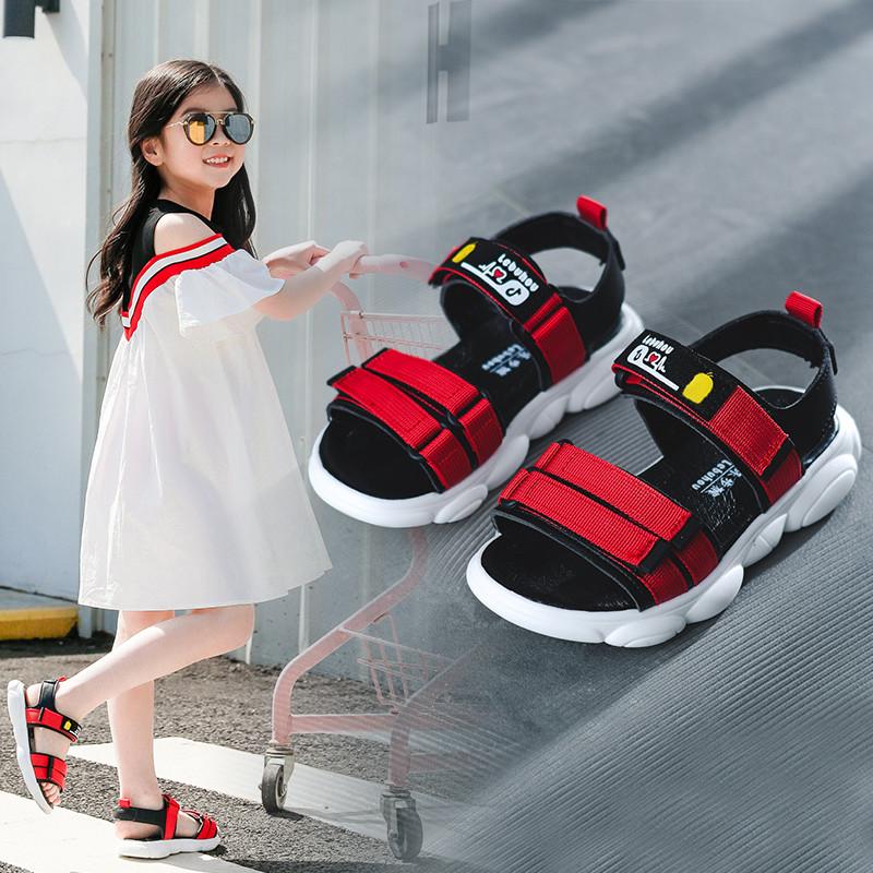 女童2021新款公主夏季韩版小熊凉鞋