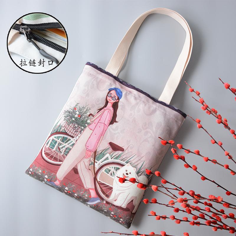 原创布包日韩女大包包卡通环保袋简约学生手提包文艺复古单肩包