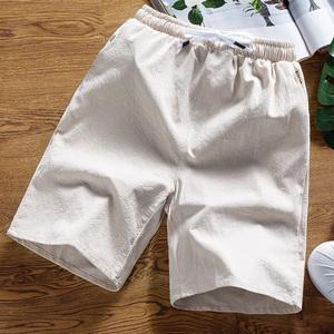 短裤男夏天纯棉5五分裤宽松休闲裤夏季潮流沙滩运动裤子男士中裤