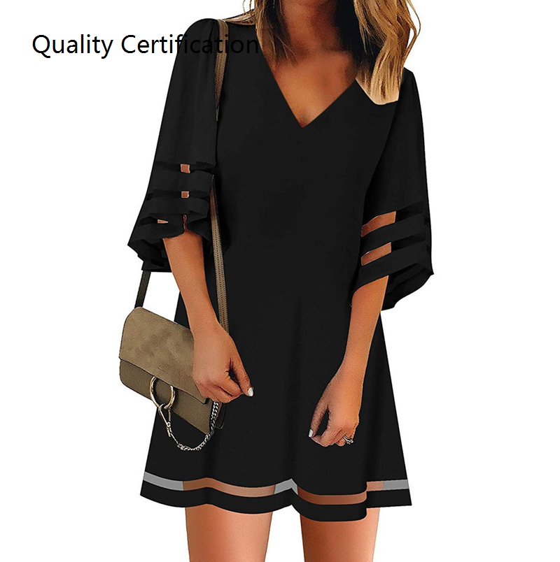 Short Sleeve, Simple Beach Dresses, Women's Clothing