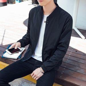 。秋天男装男土薄款韩版青年春秋季大码褂子青少年溥外套夹克棒球