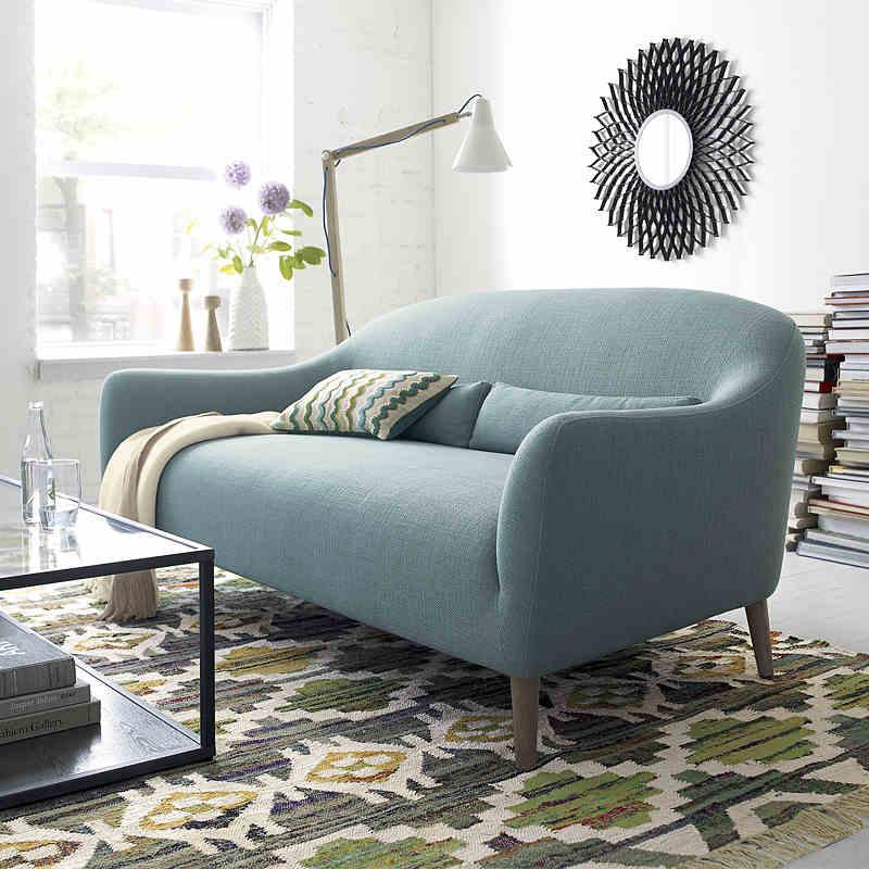 北欧の近代的な日本式ソファーのリビングルームの家具の布芸ソファーは一人で3人でソファーの小型タイプを組み合わせます。
