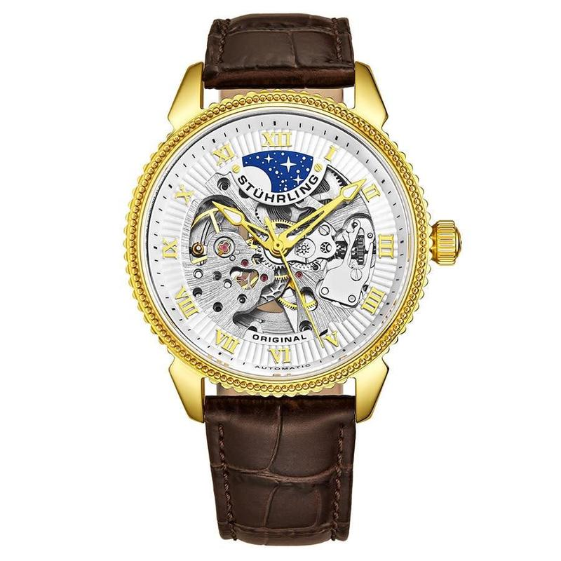 Stuhrling Turing fashion comfortable sea purchased watch mens gold m13628 counter authentic punk